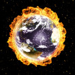 Earth in fire — Stock Photo #9225486