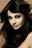 Portrait of beautiful brunette — Stock Photo