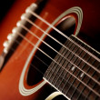 Classic acoustic guitar - Stock Photo