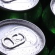 Stock Photo: Cans with cold drink