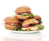 Homemade sandwiches — Stock Photo