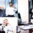 Stock Photo: Collage of diverse business