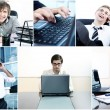 Collage of diverse business — Stock Photo #9641553