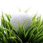 Golf ball in grass — Stock Photo