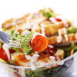 Healthy salad with chicken and vegetables - Stock Photo