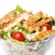 Healthy salad with chicken and vegetables — Stock Photo #9642601