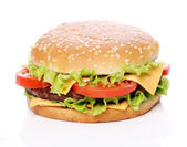 Big and tasty burger — Stock Photo
