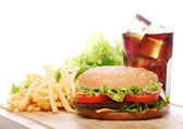 Fast food on the table — Stock Photo