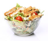 Healthy salad with chicken and vegetables — Stock Photo
