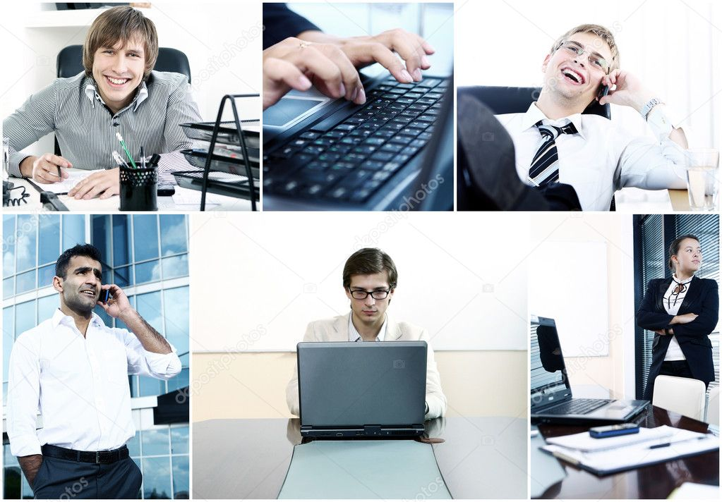 Collage of the diverse business — Stock Photo #9641553