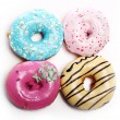 Colorful and tasty donuts — Stock Photo