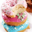 Colorful and tasty donuts — Stock Photo #9796191