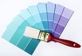 Pantone color palette and brush — Stock Photo