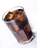 Fresh cola drink in glass — Stock Photo