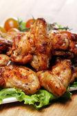 Tabak lezzetli kızarmış tavuk — Stok fotoğraf
