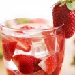 Cold drink with strawberries — Stock Photo