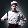 Chef with knife — Stock Photo #9969414