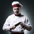Chef with knife — Stock Photo #9969420