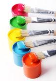 Lattine con vernice colorata — Foto Stock