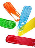 Samples of colorful paint — Stock Photo