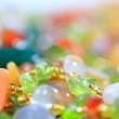 The colored stones in jewelry — Stock Photo