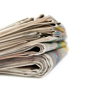 A stack of newspapers. — Stock Photo