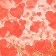 Background with hearts for Valentine's Day — Stock Photo