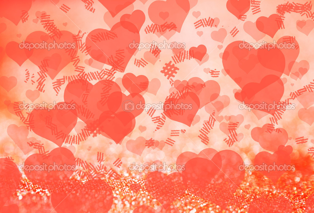 Background with hearts for Valentine's Day. Can be used as background — Stock Photo #9291213