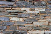 Stones stacked in a wall — Stock Photo