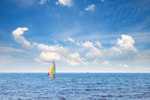 Windsurfer in the sea — Stock Photo
