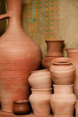 Crockery made ​​of clay — Stock Photo