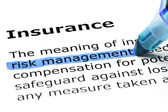 Insurance with blue marker — Stock Photo