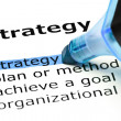 Stock Photo: Strategy highlighted in blue