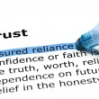 Trust with blue marker - Stock Photo