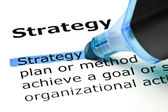 Strategy highlighted in blue — Stock Photo