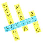 социальные медиа-кроссворд — Стоковое фото
