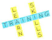 Training Crossword Puzzle — 图库照片