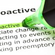 Stock Photo: 'Proactive' highlighted in green