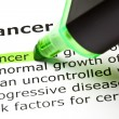 'Cancer' highlighted in green - Stock Photo
