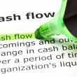 'Cash flow' highlighted in green — Foto de Stock