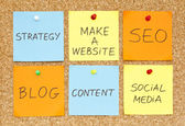 Make a Website — Stock Photo