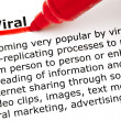 Viral underlined with red marker — Stock Photo
