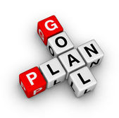 Goal plan — Stock Photo