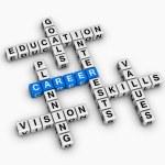 Career crossword — Stock Photo