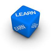 Learn, earn, lead — Stock Photo