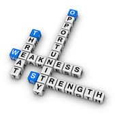 SWOT (strengths, weaknesses, opportunities, and threats) analysis, strategic planning method — Stock Photo
