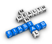 Mental health first aid crossword — Stock Photo