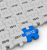 Years jigsaw puzzle — Stock Photo