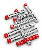 ビジネスのクロスワード パズル — ストック写真