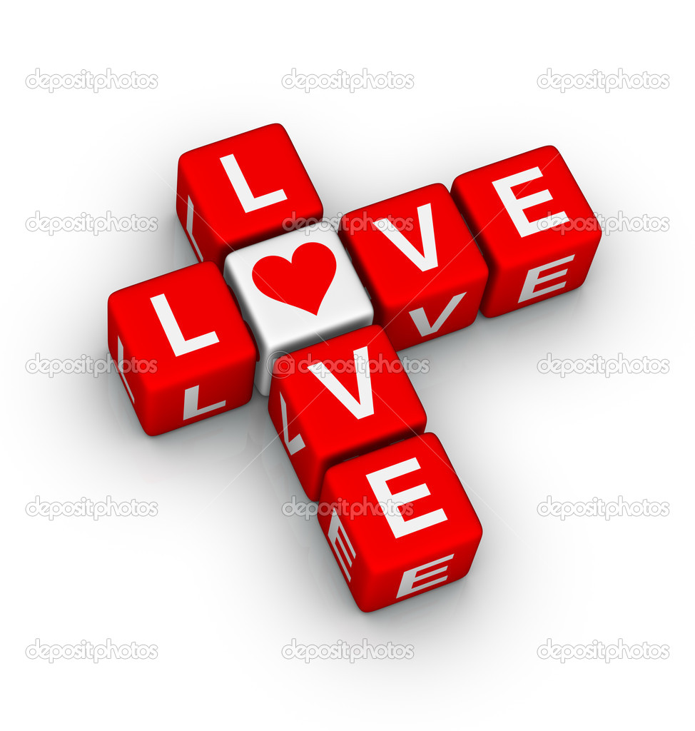Love crossword (design element for valentines day ) — Stock Photo #8358326